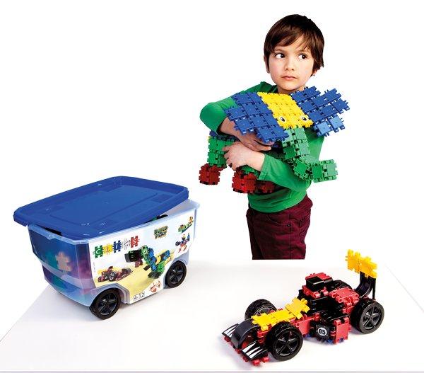 Baukästen & Konstruktion Clics Eimer 15in1 Konstruktion Bausteine Roller Box 377 Teile Geschenk Spielzeug
