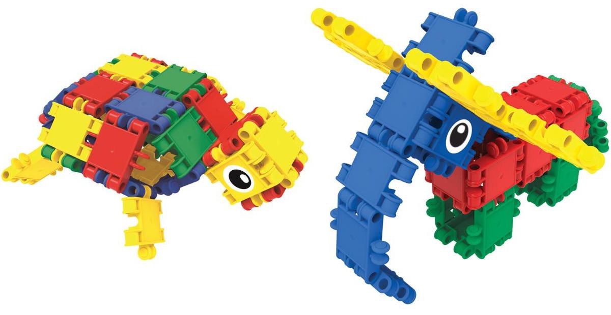 Clics Eimer 15in1 Konstruktion Bausteine Roller Box 377 Teile Geschenk Spielzeug Baukästen & Konstruktion
